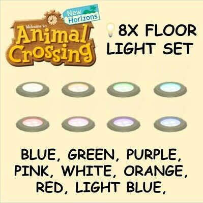 Animal Crossing 8x Different Colors Full Floor Light Set Bundle