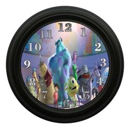 Monsters Inc Wall Clock Kids Room Decor Animated Characters Disney Movies