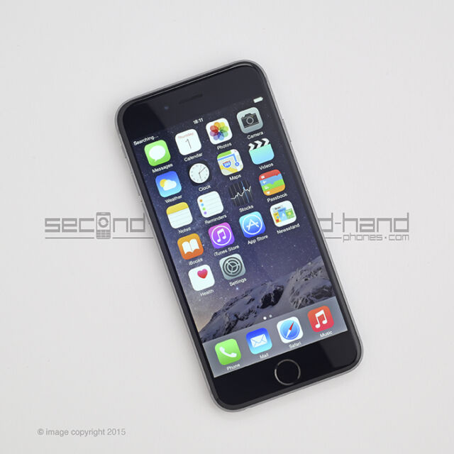 "Apple iPhone 6 16GB - Space Grey - (Unlocked) - 1 Year Warranty -""Grade A"""