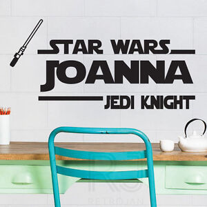 jedi knight personalized wall quotes name stickers wall decals ebay