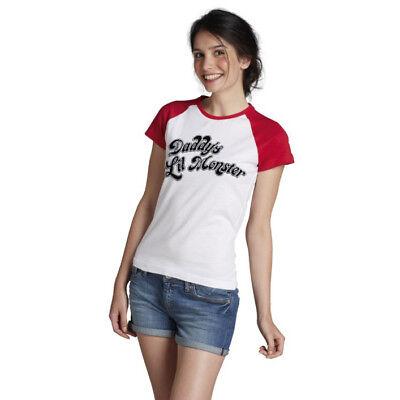 Quinn Daddys Lil Monster Damen Women Sexy Kostüm T-Shirt (Womens Harley Quinn Kostüm)