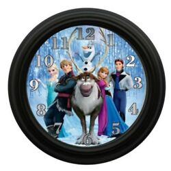 Elsa Anna Frozen Wall Clock Bedroom Decor Playroom Decor Animation Movies