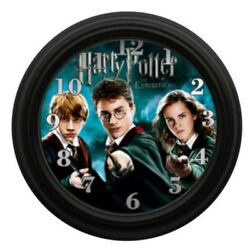 Harry Potter Wall Clock Kids Room Decor Kid Movies Hogwarts Witches