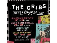 2 x The Cribs tickets - Brudenell Social Club - WEDNESDAY 20th Dec - Face value