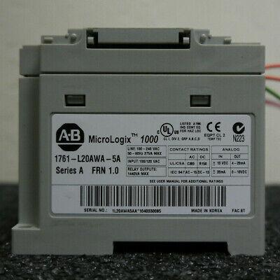 Allen Bradley Micrologix 1761-l20awa-5a 1000 Control Module