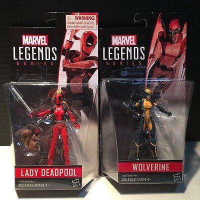 "Marvel Universe Legends series Lady Deadpool & Wolverine 3.75"" Figure Lot"