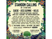 1 X STANDON CALLING FESTIVAL ADULT WEEKEND TICKET INCL CAMPING BARGAIN £80