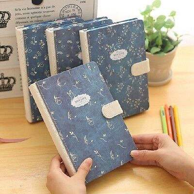 """Blue Bird"" 1pc Journal Diary Cute Lined Planner Hard Cover Notebook Memo Gift"