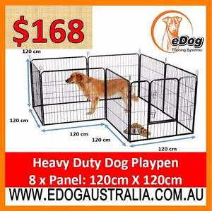 Dog Run Dog Kennel 8 Panels x 120cm Heavy Duty Fence Enclosure Welshpool Canning Area Preview