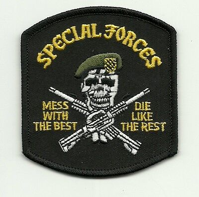 United States Army Special Forces mess with best die like rest PATCH