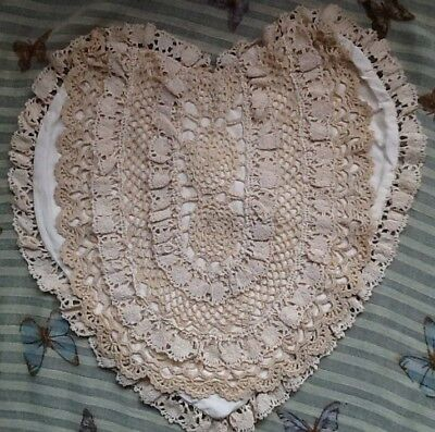 LACE covered Nightdress case, heart shape or cushion cover