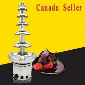 6 Tiers Stainless Steel Chocolate Fountain Fondue Commercial 110V 180W 153074
