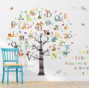 Huge Alphabets ABC Tree Nursery Wall Art Decal Stickers Children Kids Home Decor