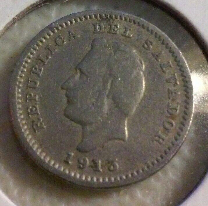 1913 H  EL SALVADOR 1 Centavo Coin   - KM106    - (#NOV005)
