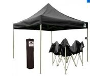 Gazebo 3x3m Black HD PRO 30 - Heavy-Duty Pop-Up (Easygazebos)
