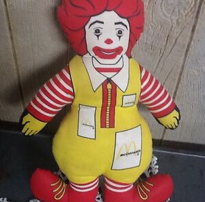 vintage 1980s ronald mcdonald doll signed