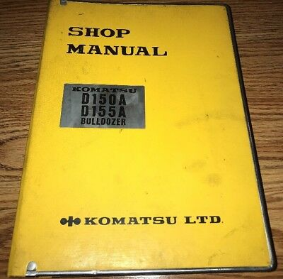 Komatsu D150a D155a Bulldozer Dozer Workshop Shop Service Repair Manual