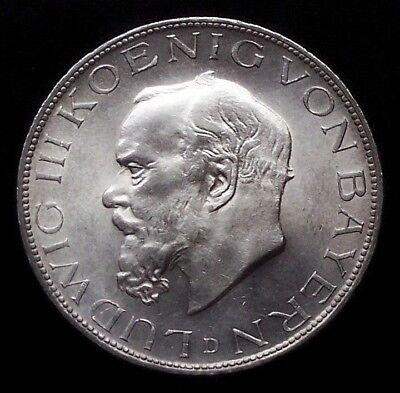 5 Mark Bayern 1914 König Ludwig III Jg 53  Prachtstück   KB 20