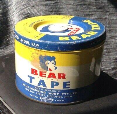 Vintage Bear Tape Collector Tin (rare)