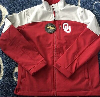 Nwt 58 Sports Oklahoma Sooners 3 Layer Soft Solid Jacket With Ou Logo Large