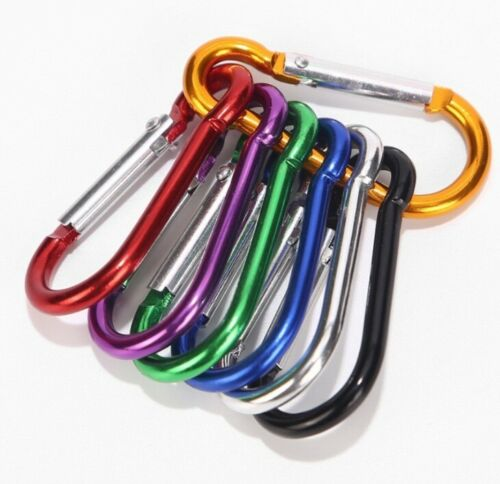 10 x Aluminum Carabiner Clip Hook D-ring Outdoor Camping Hik