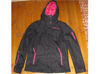 Campri ski jacket ladies black pink size 10