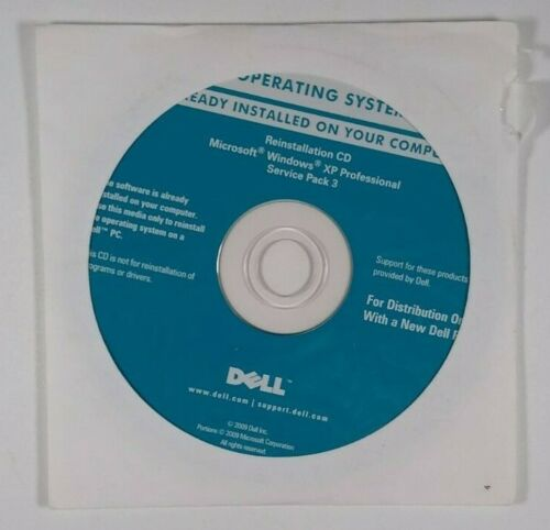 Dell Operating System Reinstallation DVD Windows, XP PROFESSIONAL SERVICE PACK3