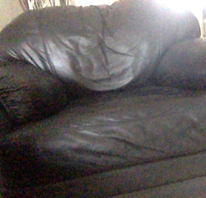 Selling Black Leather Couches  (3 Set)