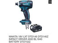 MAKITA 18V LXT IMPACT DRIVER