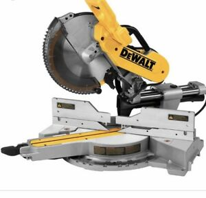 """Dewalt 12"""" mitre saw with double bevel!  And lazer"""