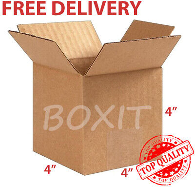 25 - 4x4x4 Cardboard Paper Shipping Boxes Mailing Packing Box Corrugated Carton