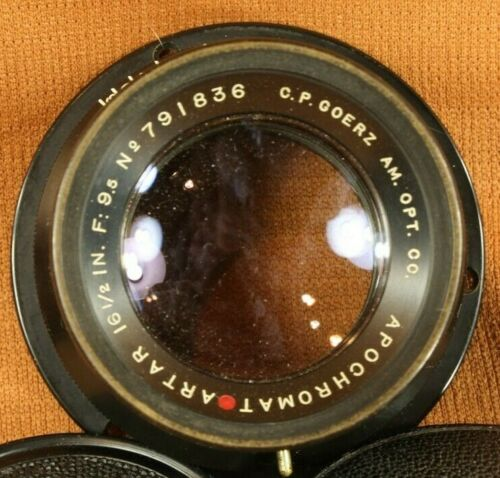 C P Goerz AM Opt CO Red Dot Apochromat Artar 16 1/2  in f:9.5 Barrel Lens