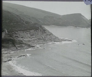 10-Lantern-Glass-Slide-Crackington-Haven-Cornwall-Cliffs-Photo-pre-1920s