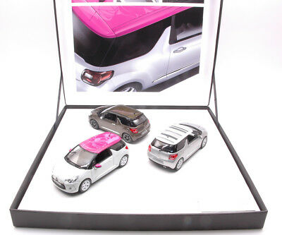 Coffret 3 Citroen Ds3 2012 Limited Edition 700 pcs 1:43 Model 155286 NOREV