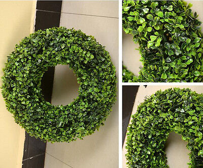 Fake Boxwood Wreath (artificial Wreath fake Boxwood grass garland faux topiary tree plant 20-38cm)