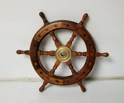 Vintage Ship Steering Wheel Wood