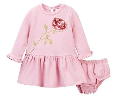 MWT Kate Spade New York Embroidered Rose Dress Set (Baby Girl) Pink 18M MSRP $68