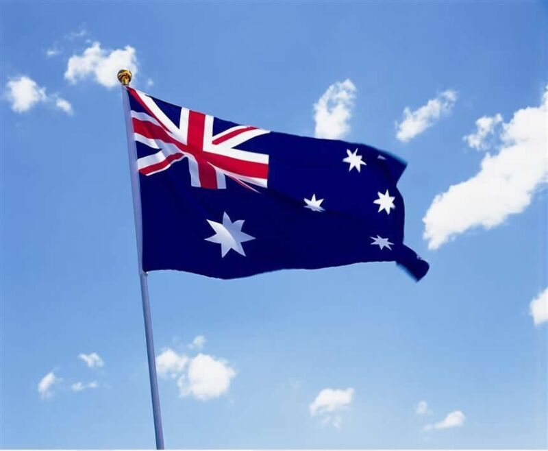 Wave AUSTRALIA 3x5 Feet Super-Poly Indoor/Outdoor Australian FLAG Country Banner