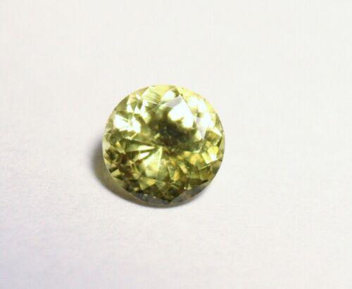 0.41ct Burmese Chrysoberyl Rare Neon Yellow AAA Scintillating Cut Round Gem 5x5