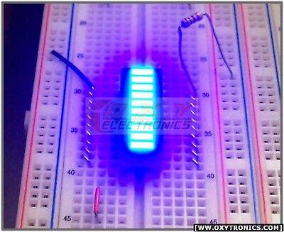 10 Pcs Blue Color 10-segment Led Bargraph Array New