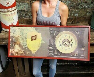 Vintage Schlitz Beer Bar Tavern Clock Lighted Metal Sign