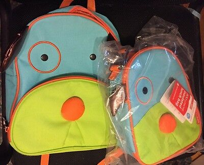 Skip Hop Doggy Backpack (used) And NWT Lunchies Lunchbox Bag Toddler Preschool