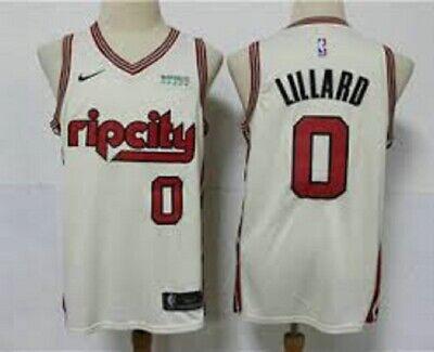 LILLARD CAMISETA DE LA NBA DE LOS PORTLAND CREMA. TALLA S,L,2XL.
