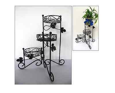 Pflanzentreppe Blumenständer Blumenregal Blumentreppe 3 Etagen Metall 20492