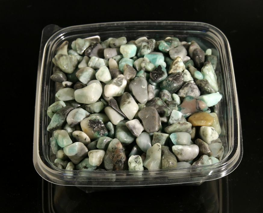 Smaragd Trommelsteine  Edelsteine Massagesteine Heilsteine 500g