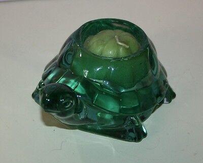 Turtle Votive Candle Holder Votive Indiana Glass   Spanish Green