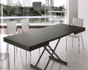 Tavolino moderno trasformabile a tavolo allungabile for Tavolo da salotto moderno