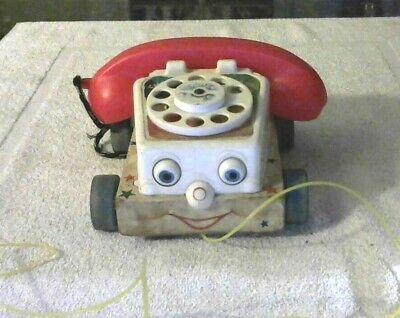 Rare Old Vintage Original Fisher Price Talk Back Telephone  # 747 1961