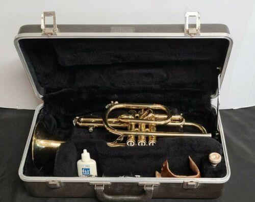 Bundy Trumpet Vincent Bach Selmer case With Mouthpiece