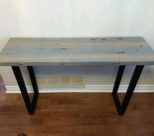 BRAND NEW!! Custom Made Reclaimed Wood Desk / Console Table.